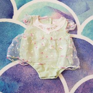 30% Off Bundles Baby Girl Light Green Dress